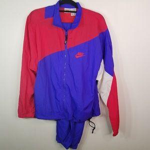 EUC Nike 2-pc violet/red windbreaker set size M